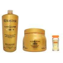 Kérastase - Elixir Ultime - Shamp 1 Lt + Másc 500g E 4 Ampl