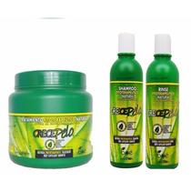Kit Crecepelo Mascara 794g + Shampoo + Rinse Preço Imbátivel
