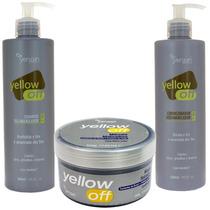 Kit Yellow Off Shampoo Condicionador Máscara 500 Yenzah
