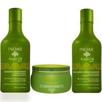 Kit Shampoo+condicionado 250ml+ Máscara Argan Oil Inoar 225g
