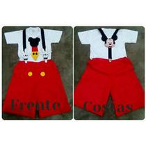 Fantasia Mickey Mouse Com Suspensório