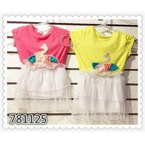 Roupa Vestido De Crianca Infantil - Menina - 100% Algodão