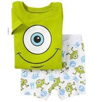 Pijama Monters S/a Infantil Unisex 7 Anos
