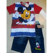 Conjunto Infantil Importado Mickey 6/8 Anos Novo. Lindo