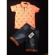 Conjunto Infantil Hollister Polo Lacoste Calvin Klein Polo!