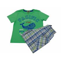 Camiseta E Bermuda Menino Turma Da Malha Tam. 02 - Natgio
