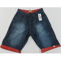 Lote C/5 Bermuda Jeans Infantil Barra Colorida
