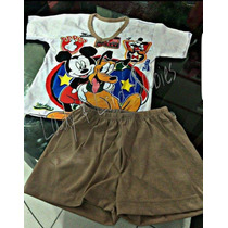 Pijama Infantil Baby Doll Mickey Mouse Disney