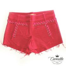 Shorts Feminino Desfiado Colorido Pink Rosa Tamanho Pp