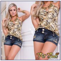 Shorts Pitbull Pit Bull Jeans Modela O Bumbum Com Bojo!