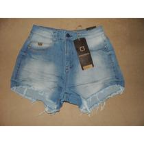 Shorts Jeans Hot Pants Cintura Alta Consciencia Jeans