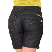 Shorts Femino Preto Plus Size Tem Calça Hot Pants Sawary 231