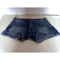 Short Feminino Jeans Damyller Número 38 100% Algodão