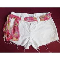 Short Branco 40 Customizado Estilizado Lovely Lolla Recycled