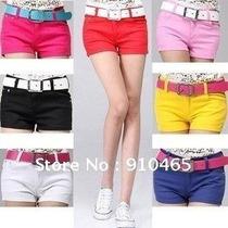 Shorts Jeans Com Lycra Colorido, Pronta Entrega Várias Cores