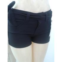 Shorts Preto E Jeans - Levanta Bumbum