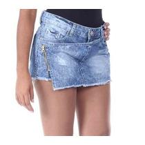 Shors Saia Jeans Sawary Tamanho 36 Com Desconto