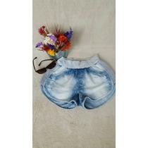 Short Jeans Com Moletom Feminino