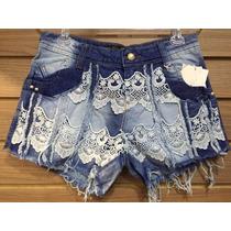 Short Jeans Hot Pant+manchado+vários Modelos+strass+perola