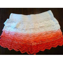 Shorts Renda Mesclado M