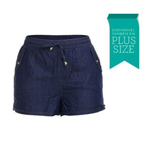 Lindo Shorts Levinho Feminino Fact - Plus Size [02543]