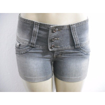 Shorts Jeans Cintura Alta Tam 38 Denuncia Bom Estado