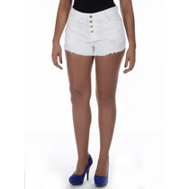 Shorts Jeans Feminino Anitta Hot Pants Cintura Alta Sawary