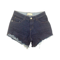 Shorts Jeans Cintura Alta Hot# +mais Barato