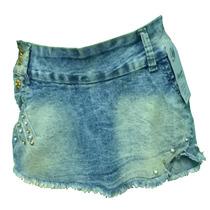 Short Saia Jeans Com Elastano Curto -super Promoção