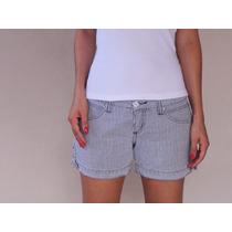 Shorts Feminino Numero 36 Marca Exss Listrado