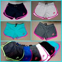 Kit 5 Shorts Feminino Moleton 100% Algodão, Hollister, Nike