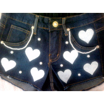 Shorts Feminino Customizado Cintura Alta