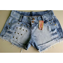 Short Jeans Customizado Hot Pants Cintura Alta Panicat Curto