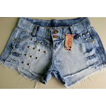 Short Jeans Customizado Hot Pants Cintura Alta Panicat Curto