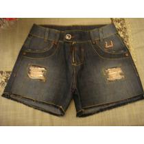 Caccau Jeans Bermuda Com Ziper Detalhes Dourado Tam 40 Short