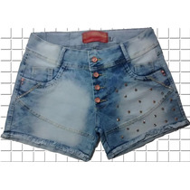 Short Jeans Plus Size Hot Pants Cintura Alta