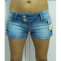 Shorts Curto Jeans C/ Strech (lycra) Feminino - Barato