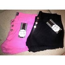 Short Feminino Jeans Colorido Lindo