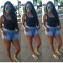 Lindos Shorts Jeans Com Moletom Roupa Femininas