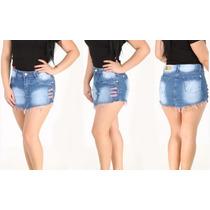 Mini Saia Jeans Modela Bum Bum