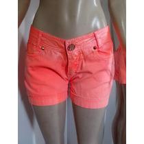 Shorts Feminino Jeans Colorido