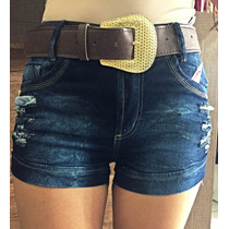 Short Jeans Com Cinto Pit Girl