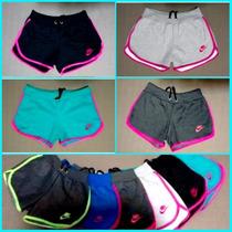 Kit 10 Shorts Feminino Moleton 100% Algodão, Hollister, Nike