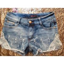 Short Jeans Customizado Azul Marinho