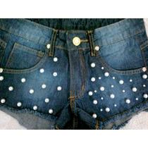 Short Feminino Hot Pants Customizado Cintura Alta