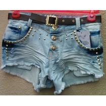 Short Jeans Feminino Customizado Destroyer Frete Grats+cinto