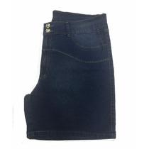 Short Jeans Feminino Elastano Plus Size Pequenos Defeitos