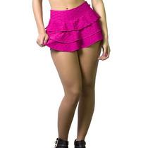 Shorts Saia Babado Triplo