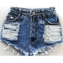 Short Jeans Hot Pants Destroyed Customizado