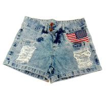 Short Jeans Customizado Personalizado Hot Pants Cintura Alta